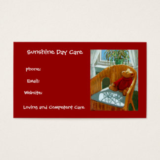 Teddy Bear in Pastel: Day Care Business: Red