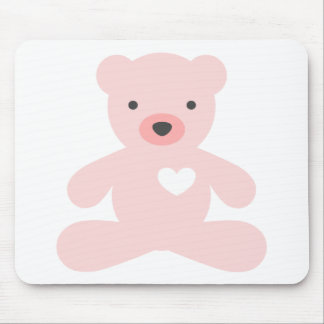 Teddy Bear in Pink Mouse Pad