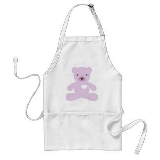 Teddy Bear in Purple Standard Apron