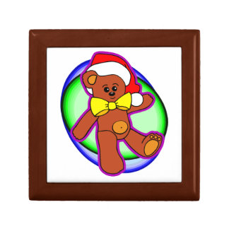 Teddy Bear In Santa Hat Gift Box