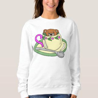 Teddy Bear in Tea Cup Sweatshirt