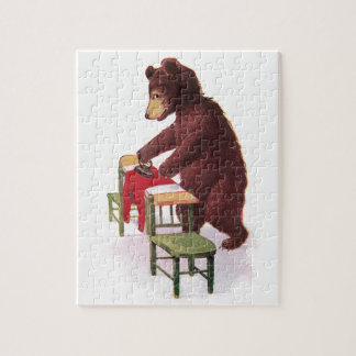 Teddy Bear Ironing Clothes Jigsaw Puzzle