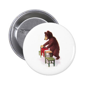 Teddy Bear Irons Clothes 6 Cm Round Badge