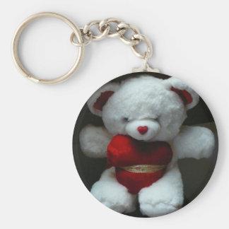Teddy Bear Key Chain Basic Round Button Keychain