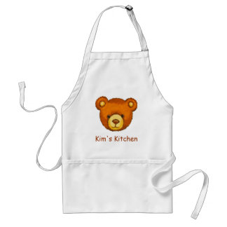 Teddy Bear Kitchen Apron ~ Custom Name
