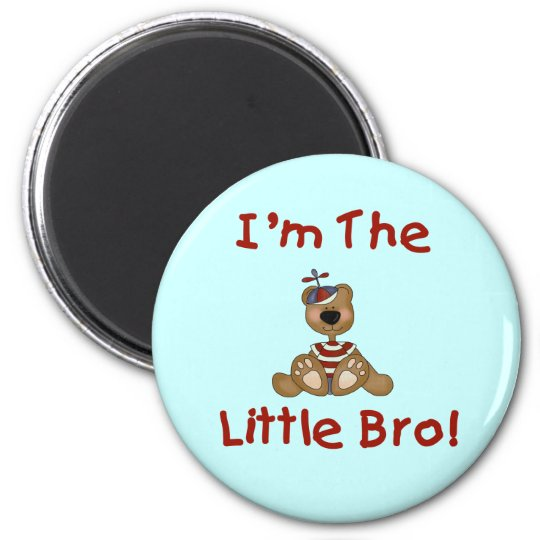 Teddy Bear Little Bro Tshirts and Gifts 6 Cm Round Magnet