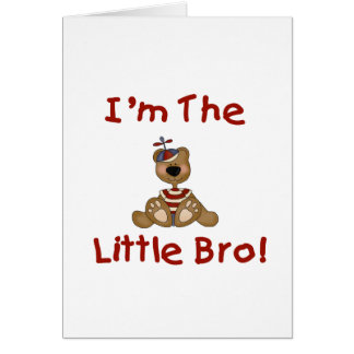 Teddy Bear Little Bro Tshirts and Gifts Greeting Card