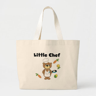 Teddy Bear Little Chef Large Tote Bag