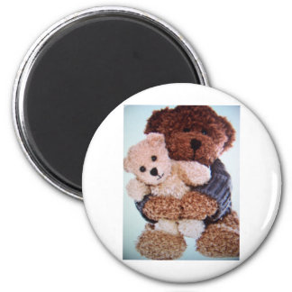 teddy bear love 6 cm round magnet