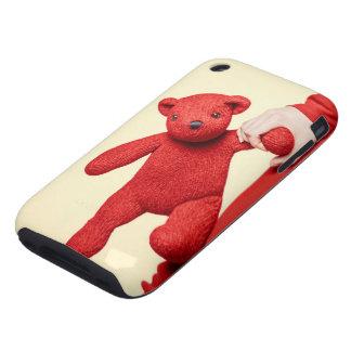 Teddy bear love tough iPhone 3 cases