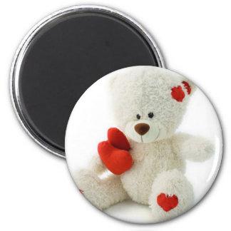 *Teddy Bear Love* Cute Teddy 6 Cm Round Magnet