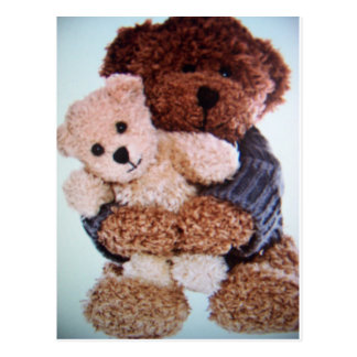 teddy bear love postcard