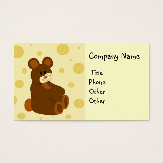 Teddy Bear Making Business Card
