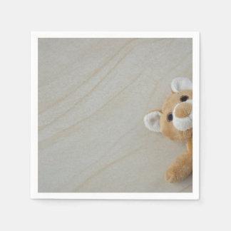 Teddy Bear Marble Disposable Serviette