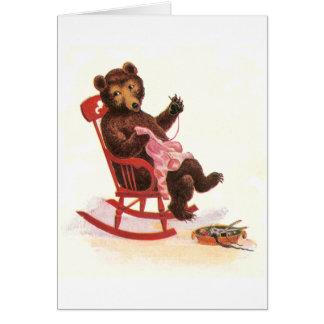 Teddy Bear Mends Clothes Card
