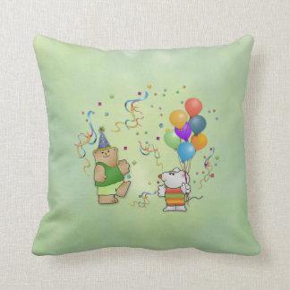 Teddy Bear, Mousie,Balloons & Glitter Pillow