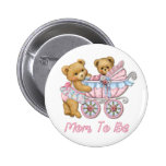 Teddy Bear Mum and Carriage - Pink