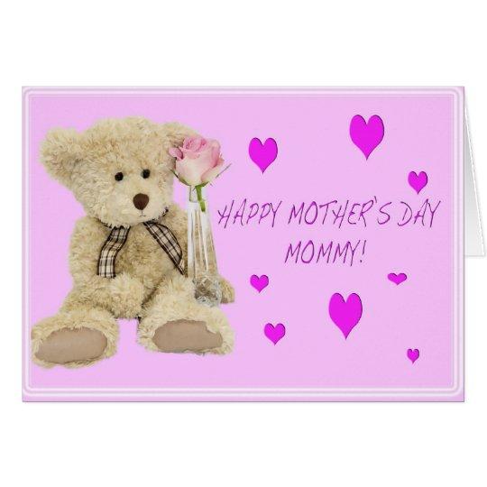 Teddy Bear Mummy Happy Mother's Day Greeting Card
