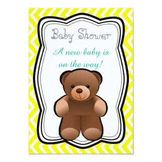 Teddy Bear Neutral Baby Shower Card