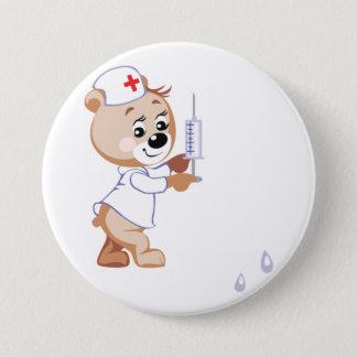 Teddy Bear Nurse Button