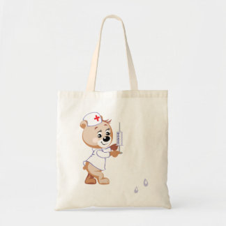 Teddy Bear Nurse Tote Bag
