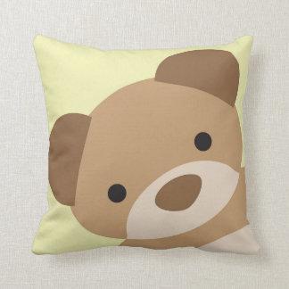 Teddy Bear Nursery Decorative Pillow Yellow
