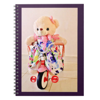 Teddy Bear on a Tricycle Spiral Notebook