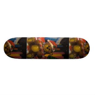 Teddy Bear on Ice Skate Deck