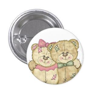 Teddy Bear Pair - Original Colors Pinback Button