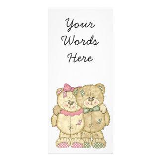 Teddy Bear Pair - Original Colors Custom Rack Card