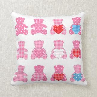 Teddy bear pattern fun for children template cute throw pillows