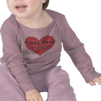 Teddy Bear Pawprints on My Heart Tees