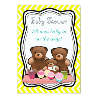 Teddy Bear Picnic Baby Shower Card