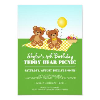 Teddy Bear Picnic Birthday Party 13 Cm X 18 Cm Invitation Card