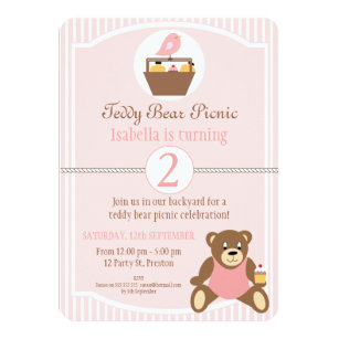 Teddy Bear Picnic Invitations Announcements Zazzlecouk