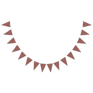 Teddy Bear Picnic Birthday Red Gingham Bunting