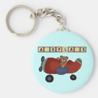 Teddy Bear Pilot Tshirts and Gifts Basic Round Button Key Ring