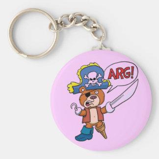 Teddy Bear Pirate Keychain