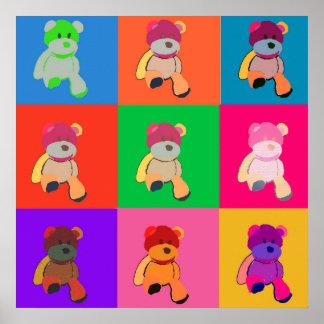 Teddy Bear Pop Art Poster