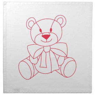 Teddy Bear Printed Napkin