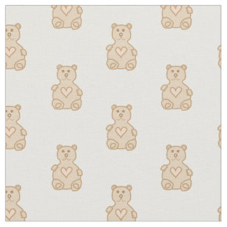Teddy Bear Prints Fabric