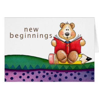 Teddy Bear Reading Greeting Card