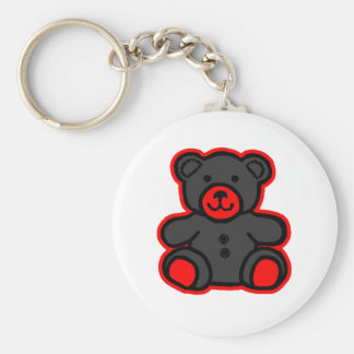 Teddy Bear Red Black The MUSEUM Zazzle Gifts Key Chains
