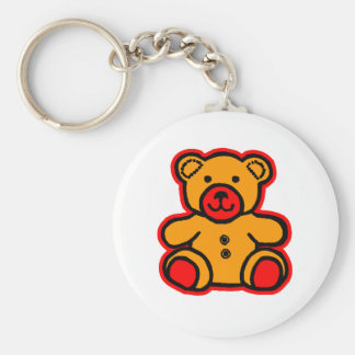 Teddy Bear Red Orange The MUSEUM Zazzle Gifts Keychains
