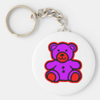 Teddy Bear Red Purple The MUSEUM Zazzle Gifts Keychains