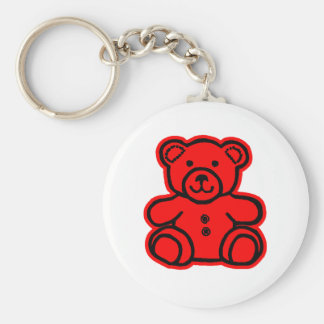 Teddy Bear Red Red The MUSEUM Zazzle Gifts Key Chains