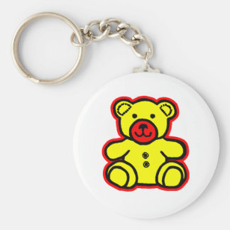 Teddy Bear Red Yellow The MUSEUM Zazzle Gifts Key Chain