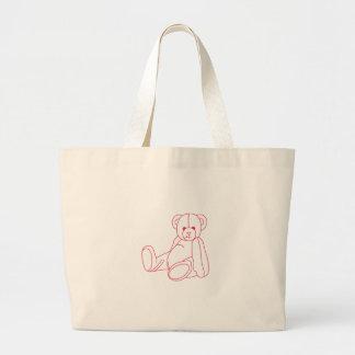 Teddy Bear Redwork Jumbo Tote Bag