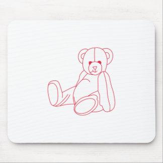 Teddy Bear Redwork Mouse Pad