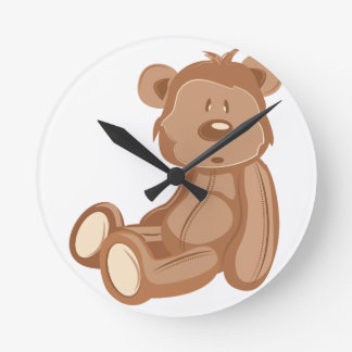 Teddy Bear Round Clock